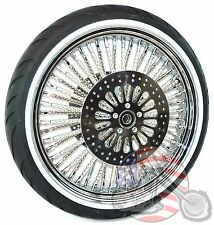21 X 3.5 52 Mammoth Chrome Evo Spoke Wheel WWW Tire 00-07 Harley Touring Package