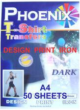 Ferro a T Tee Shirt Dark Transfer A4 50 fogli getto d'inchiostro Stampanti