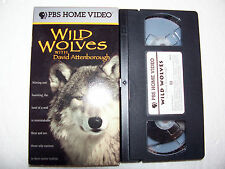 Wild Wolves w/ David Attenborough VHS PBS Home Video tv nature documentary