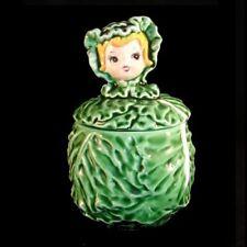 Vintage LEFTON Sugar Cissy Cabbage Cuties Pixie Girl Jar - CUTE!