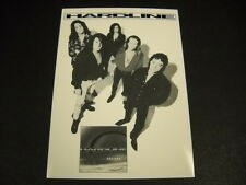 HARDLINE 1992 record company promo card DOUBLE ECLIPSE mint condition