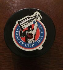Stanley Cup 100th Anniversary Puck 1893-1993 Official Game Gil Stein InGlasco 92