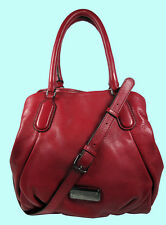 MARC By Marc Jacobs New Q' Fran Red Canyon Leather Tote Bag Msrp $448