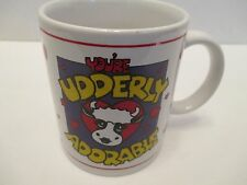 You're Udderly Adorable Novelty Cow Coffee Tea Mug Cup