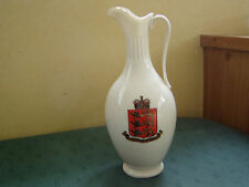 LARGEST SIZE ANCIENT PORT OF MINEHEAD + SOMERSET JAPAN EWER - GOSS CRESTED CHINA