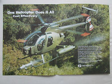 6/1981 PUB HUGHES HELICOPTERS HUGHES 500MD DEFENDER TOW MISSILE ORIGINAL AD