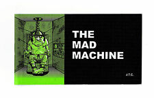 "THE MAD MACHINE Jack Chick Christian Bible Gospel JESUS CHRIST 5"" x 2.75"" Tract"