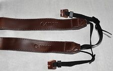 CANON PU LEATHER DARK BROWN  SHOULDER NECK STRAP & RING + PU LEATHER COVER  DSLR