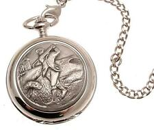 Pocket watch Golf design quartz mechanism Golfing