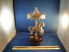 """Fancy Double Moving Horse Carousel """"True Love"""" Music Box"""