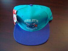CHARLOTTE HORNETS AJD BIG LOGO  SPLASH SCRIPT VINTAGE 90'S HAT CAP  SNAPBACK