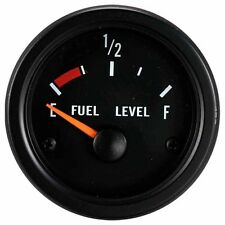 100% Made in Taiwan 52mm Black face Black Rim Fuel Level Gauge