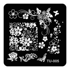 HOT Manicure TU Nail Stamping Plate Stainless Steel Nail Art Stamp Template T-05