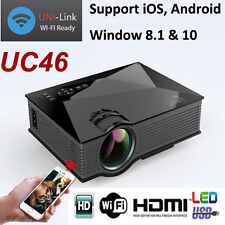 100% Original UNIC UC46 3D Mini LED Wi-Fi Miracast Projector with Logo