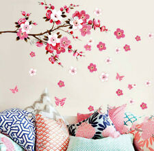 Large Cherry Blossom Flower Butterfly Tree Wall Stickers Art Decal Home Decor 2