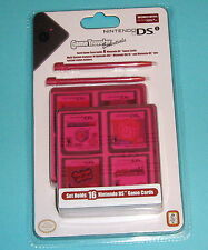 NEW Nintendo DS/DSi Game Traveler pack - 2 styluses/2 cases (hold 16 total) RED