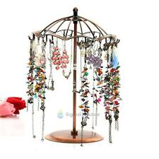 Umbrella Shape Metal Jewelry Earring Necklace Display Rack Stand Holder