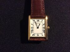 Gents 18k classic Cartier Louis tank watch