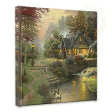 "Thomas Kinkade Wrap - Stillwater Cottage – 14"" x 14"" Gallery Wrapped Canvas"