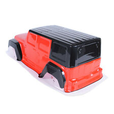 1/10 RC Crawler DIY PVC Jeep Bodies Shell Climing Car Body with Sticker Red