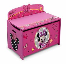 Minnie Mouse Toy Box Deluxe Organizer Bedroom Chest Storage Girl Kids Delta New