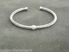 DAVID YURMAN 4 MM CABLE CLASSICS ONE STATION BRACELET WITH DIAMONDS