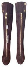 Bellofato Chocolate Brown Suede All Leather  Italy Knee High Tall Boots NIB  8 M