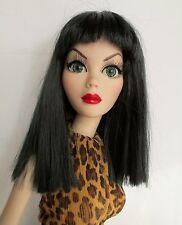 Monique Yuri Wig 6/7 for BJD MSD YoSD Bethany Ellowyne BID KID PID Off Black