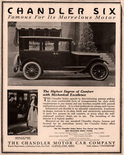 1912 AD CHANDLER MOTOR CAR   FLAPPER FASHION PHOTO PRICES INTERIOR VIEW
