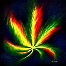 *Rasta Marijuana Leaf Cannabis Weed in/outdoor Vinyl Bumper Sticker Decal 2.5""