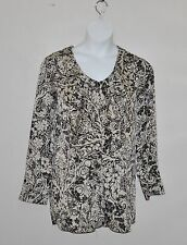 Status by Star Jones Button Front Woven Blouse Size XS Taupe