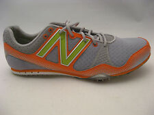 New Balance Mens MR500RL Track Shoes 11.5 D Gray Orange Track & Field Spikes NEW