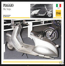 1946 Piaggio 98cc Vespa Scooter Moped Italy Motorcycle Photo Spec Info Card
