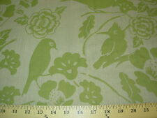 ~10 YDS~BIRDS ON BRANCHES~WOVEN UPHOLSTERY FABRIC~FABRIC FOR LESS~