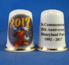 Birchcroft China Thimble -- Disneyland Paris 25th Anniversary - Free Dome Box