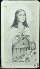 OLD BLESSED SAINT LUCY HOLY CARD ANDACHTSBILD SANTINI   SEE MY EBAY SHOP C675