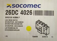 SOCOMEC 26DC 4026 SIRCO DC 4X250A Load Break Switch 250 Amp