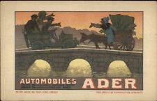 Clement Ader French Automobile Mfr Adv Cars Georges Meunier Postcard gfz