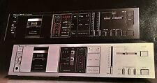 Nakamichi BX-2 Cassette Deck Original Owners Manual 7 Pages BX2 + Color Brochure