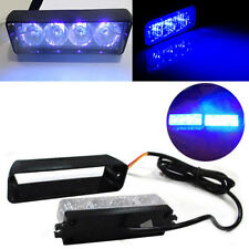 4 LED Car Truck Emergency Beacon Light Bar Hazard Strobe Warning Bright Blue