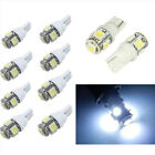 10PCS T10 5050 5SMD White LED Car Light Wedge Lamp Bulbs Super Bright DC12V