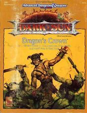 DSE1 DRAGON'S CROWN EXC! DARK SUN Boxed Set Adventure Module Dungeons Dragons