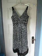 EVAN PICONE  Dress Size 6 B & W polka dots polyester Sleeveless NEW w/Tags $99