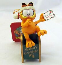 Mail Box Letters to Santa Garfield Figure Figurine Christmas Holiday Ornament