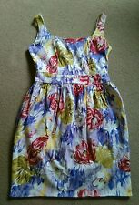 SEXY DOROTHY PERKINS PURPLE RED GREEN ABSTRACT FLORAL SHORT SLEEVELESS DRESS 10