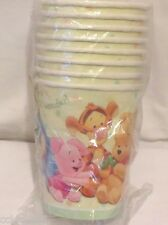 8 NEW WINNIE THE POOH POOH'S BABY DAYS  PAPER CUPS  PARTY SUPPLIES