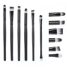 6 Pcs Professional Eye Cosmetic Brushes Set kit Tool Blending Eyeshadow Powder