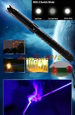 5W970-B 450nm Blue Laser Pointer 3 Switch Modes Burn Matches Light Cigarettes
