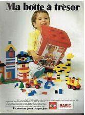 Publicité Advertising 1990 Les Jeux Jouets Lego Basic