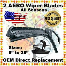 "AERO 22"" / 22"" PREMIUM QUALITY SUMMER WINTER BRACKETLESS WINDSHIELD WIPER BLADES"